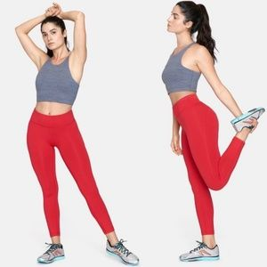 Outdoor Voices Tech Sweat 7/8 Flex Leggings Red